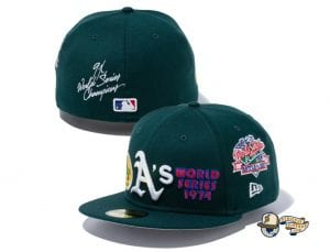 MLB World Champions 59Fifty Fitted Cap Collection by MLB x New Era Athletics