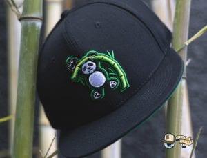 Pandas Black Fitted Cap by Baseballism