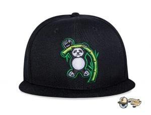 Pandas Black Fitted Cap by Baseballism Front
