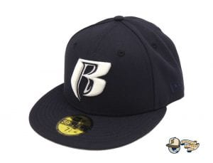 Ruff Ryders Ent Navy White 59Fifty Fitted Cap by Ruff Ryders x New Era Left
