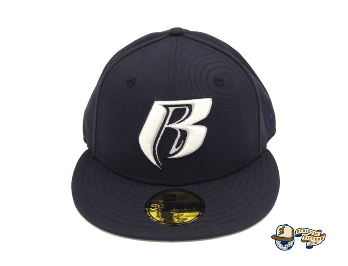 Ruff Ryders Ent Navy White 59Fifty Fitted Cap by Ruff Ryders x New Era