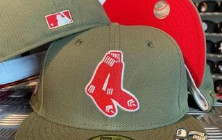 Boston Red Sox Olive Red 59Fifty Fitted Cap by MLB x New Era