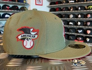 Boston Red Sox Olive Red 59Fifty Fitted Cap by MLB x New Era Side