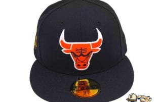 Chicago Bulls Custom Navy 59Fifty Fitted Cap by NBA x New Era