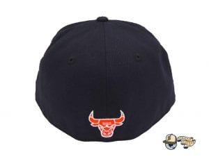 Chicago Bulls Custom Navy 59Fifty Fitted Cap by NBA x New Era Back