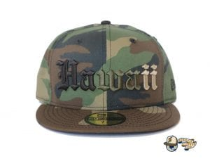 Hawaii Woodland Camo 59Fifty Fitted Cap by 808allday x New Era Front