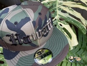 Hawaii Woodland Camo 59Fifty Fitted Cap by 808allday x New Era Right