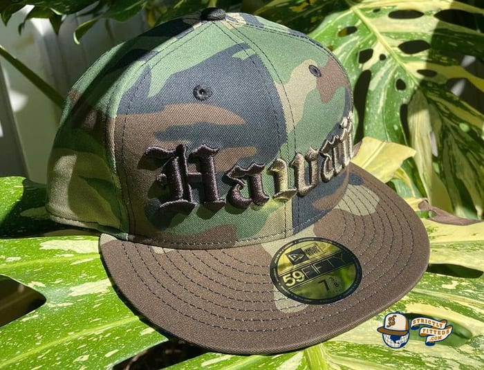 Hawaii Woodland Camo 59Fifty Fitted Cap by 808allday x New Era