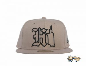 Hi Kam Khaki 59Fifty Fitted Hat by 808allday x New Era Front