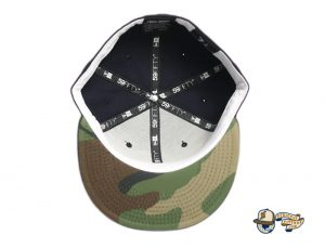 Kamehameha Navy Woodland Camo 59Fifty Fitted Hat by Fitted Hawaii x New Era Undervisor