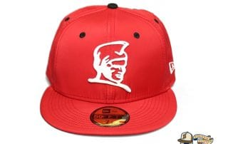 Kamehameha Red Nylon White 59Fifty Fitted Cap by Fitted Hawaii x New Era
