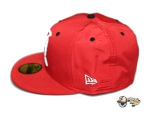 Kamehameha Red Nylon White 59Fifty Fitted Cap by Fitted Hawaii x New Era Left