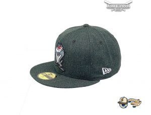 Looney Tunes Taz Black Heather 59Fifty Fitted Hat by Looney Tunes x New Era Left