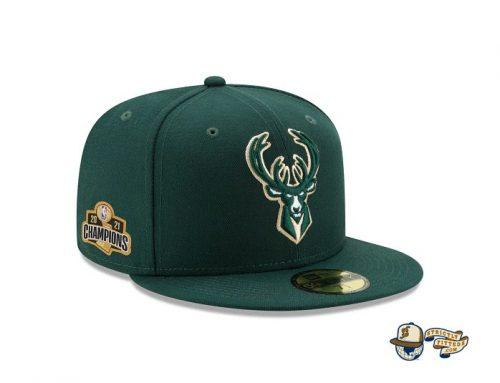 Milwaukee Bucks NBA Authentics Champions Edition 59Fifty Fitted Cap by NBA x New Era