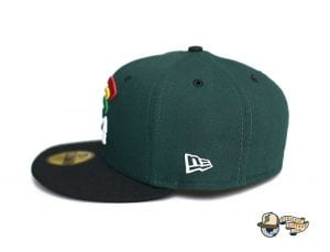 Mua Dark Green Black 59Fifty Fitted Cap by Fitted Hawaii x New Era Left