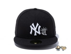 New York Yankees Statue Of Liberty 59Fifty Fitted Cap by MLB x New Era Black