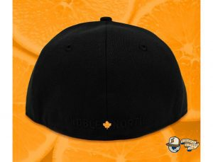 North Star Black Orange 59Fifty Fitted Cap by Noble North x New Era Back