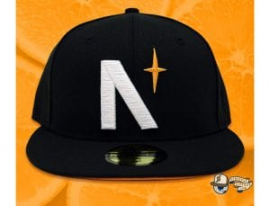 North Star Black Orange 59Fifty Fitted Cap by Noble North x New Era Front