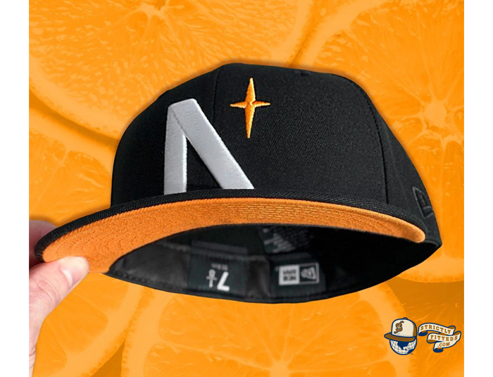 North Star Black Orange 59Fifty Fitted Cap by Noble North x New Era