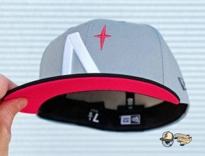 North Star Grey Black 59Fifty Fitted Cap by Noble North x New Era Infrared