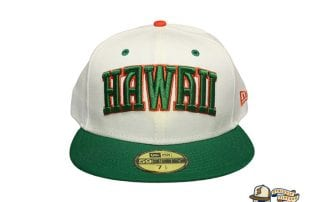 WESN White Kelly Green Orange 59Fifty Fitted Cap by Fitted Hawaii x New Era