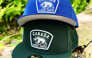 Canada Badge Royal Dark Green 59Fifty Fitted Hat by Noble North x New Era