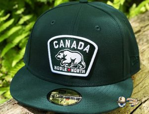 Canada Badge Royal Dark Green 59Fifty Fitted Hat by Noble North x New Era Green