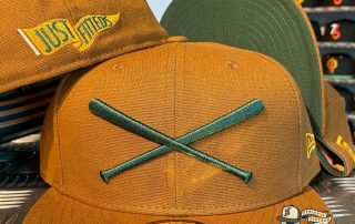 Crossed Bats Logo Brown Canvas 59Fifty Fitted Hat by JustFitteds x New Era
