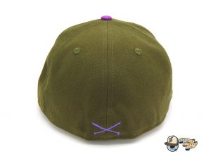 Crossed Bats Logo Olive Canvas 59Fifty Fitted Hat by JustFitteds x New Era Back