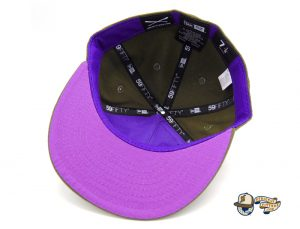 Crossed Bats Logo Olive Canvas 59Fifty Fitted Hat by JustFitteds x New Era Bottom