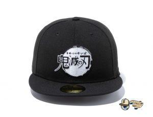 Demon Slayer Kimetsu No Yaiba 59Fifty Fitted Hat Collection by Demon Boy Kimetsu No Yaiba x New Era Black