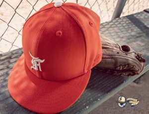 Fear Of God Essential 2021 59Fifty Fitted Hat Collection by Fear Of God x MLB x New Era Orange