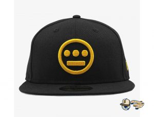 Hiero Black Yellow 59Fifty Fitted Hat by Hieroglyphics x New Era Front