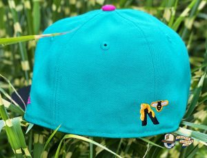 Honey Surfers Teal Black 59Fifty Fitted Hat by Noble North x New Era Back