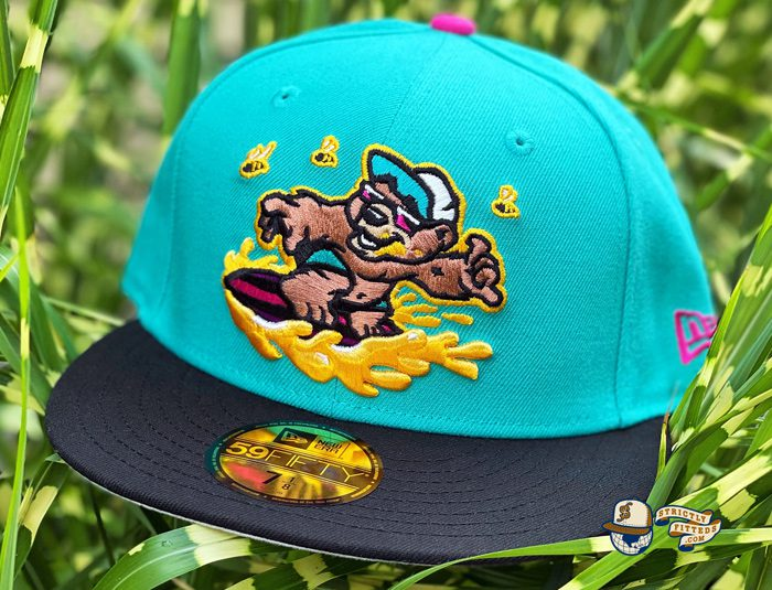 Honey Surfers Teal Black 59Fifty Fitted Hat by Noble North x New Era