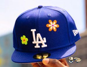 MLB Chain Stitch Floral 59Fifty Fitted Hat Collection by MLB x New Era