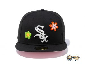 MLB Chain Stitch Floral 59Fifty Fitted Hat Collection by MLB x New Era Front