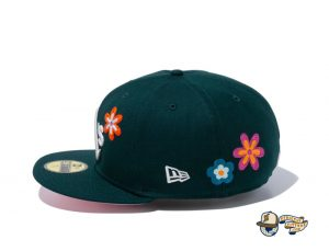 MLB Chain Stitch Floral 59Fifty Fitted Hat Collection by MLB x New Era Side