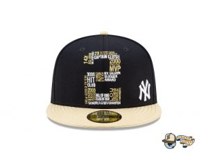MLB Derek Jeter New York Yankees Tribute 59Fifty Fitted Hat Collection by MLB x New Era Front