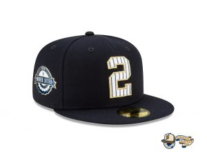 MLB Derek Jeter New York Yankees Tribute 59Fifty Fitted Hat Collection by MLB x New Era Right