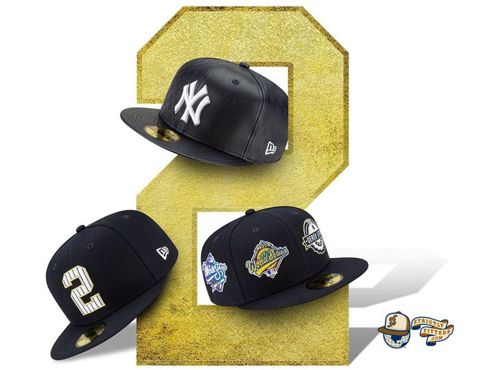 MLB Derek Jeter New York Yankees Tribute 59Fifty Fitted Hat Collection by MLB x New Era