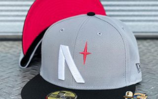 North Star Grey Black Infrared 59Fifty Fitted Hat by Noble North x New Era
