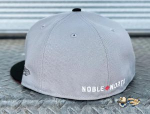 North Star Grey Black Infrared 59Fifty Fitted Hat by Noble North x New Era Back