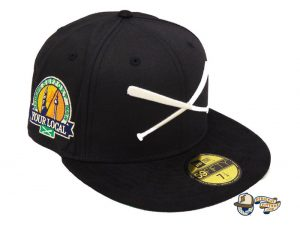 Crossed Bats Logo Support Your Local Patch 59Fifty Fitted Hat by JustFitteds x New Era Black