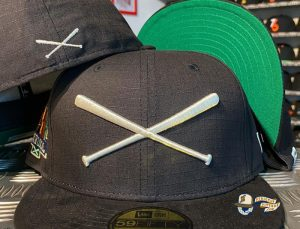 Crossed Bats Logo Support Your Local Patch 59Fifty Fitted Hat by JustFitteds x New Era Front
