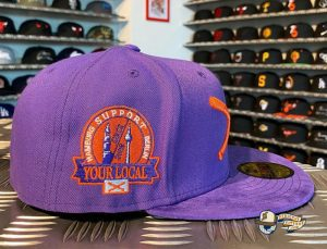 Crossed Bats Logo Support Your Local Patch 59Fifty Fitted Hat by JustFitteds x New Era Patch