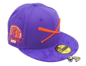 Crossed Bats Logo Support Your Local Patch 59Fifty Fitted Hat by JustFitteds x New Era Purple
