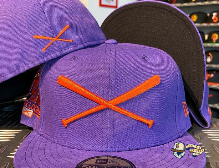 Crossed Bats Logo Support Your Local Patch 59Fifty Fitted Hat by JustFitteds x New Era