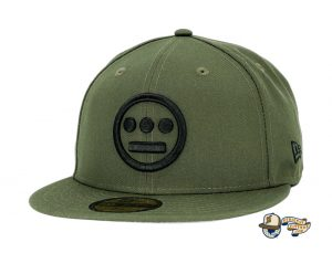 Hiero Rifle Green Black 59Fifty Fitted Hat by Hieroglyphics x New Era Front