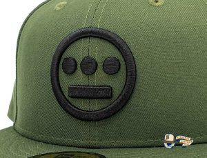 Hiero Rifle Green Black 59Fifty Fitted Hat by Hieroglyphics x New Era Zoom
